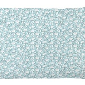Pillow Case Flower Vines Print Cover No Insert